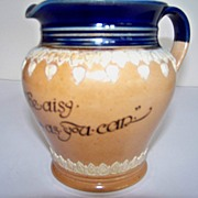 SALE Doulton Lambeth Pitcher with Motto