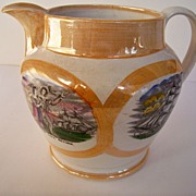SALE Large Pearlware English Pitcher