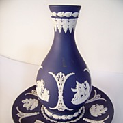 SALE Beautiful Wedgwood Jasperware Vase and Tray