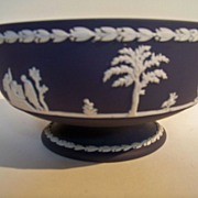 SALE Wedgwood Dark Blue Footed Bowl