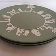 SALE Wedgwood Jade Green Plates