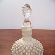 SALE Hobnail Milk Glass Cruet