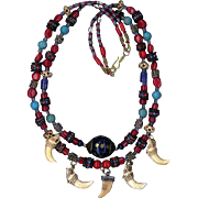 Tibetan beads Turquoise &  Bone carved beads : Magic Lady