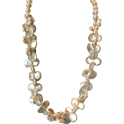 Twin Double Coin White Pearl 20� Necklace
