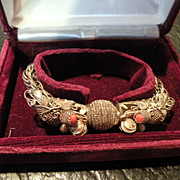 Antique Chinese Silver Dragon Bracelet 26 grams 7 inches