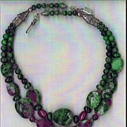 SALE Ruby Zoisoite beads : Ruby Beauty II
