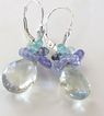 Moonlight Sonata - 8 Carats Prasiolite, Tanzanite, Iolite, Apatite, Aquamarine - Sterling Silver Drop Earrings