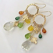 Autumn Leaves - 14.50 Carat Lemon Topaz, Mandarin Garnet, Green Apatite, Peridot, Yellow Opal