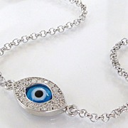 SOLD Protective Evil Eye Bracelet As Seen On Kim Kardashian And Kelly Ripa - NEW - Celebrity S
