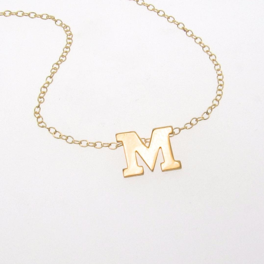 your initial necklace 14k solid gold ultra feminine