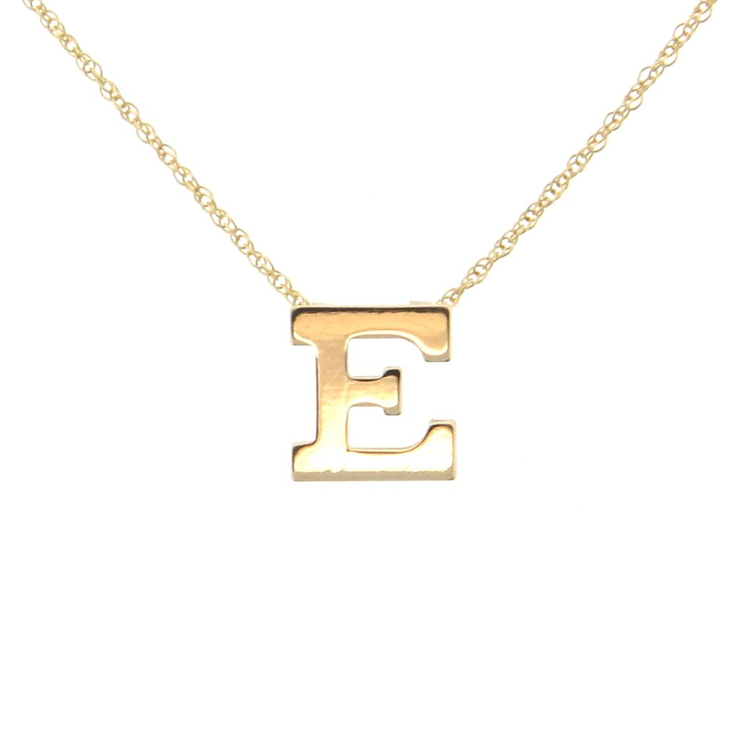 initial necklace personalized 14k solid gold ultra