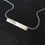 Sterling Silver Name Plate Necklace, As Seen on Kim Kardashian