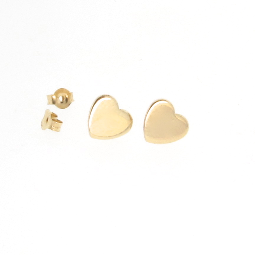 heart earrings gold - photo #18