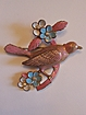 Pot Metal Bird Enameled Pin