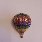 Hot Air Enameled Pin
