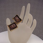 Hickok Art Glass Cuff Links