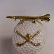 AJC Golf Ball Brooch