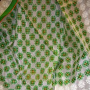 Made in Japan Scarf Green Geometric