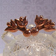 Renoir Tulip Earrings Clip in Copper