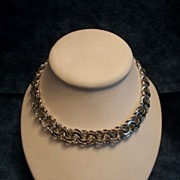 Silver Plated Chain Style Power Necklace
