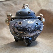 Dragonware Moriage Incense Pot