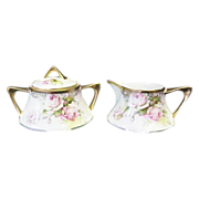 SALE Royal Munich Bavaria Creamer and Sugar Roses