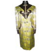 Vintage Yellow and Black Chinese Silk 3/4 Length Jacket Robe