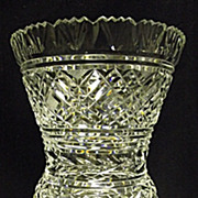"SALE PENDING Waterford Crystal Large Thistle Shaped Vase 10.5"" Flared Footed"