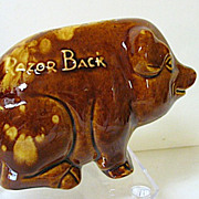 SOLD Roseville Pottery Razor Back Pig/Piggy Bank