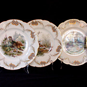 SOLD 5 Exquisite 19th Century Haviland Limoges Porcelain Plates
