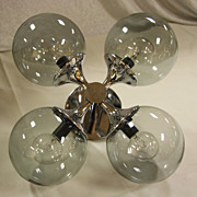 Spectacular Mid Century Flush Mount Sputnik Chandelier