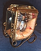 Superb French Beveled Crystal Sedan Chair Watch Holder