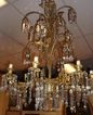 Magnificent & Unusual Large Cut Crystal and Gilt Chandelier
