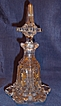 Stunning Bohemian Gilt enameled Crystal Perfume Bottle