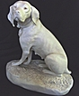 Impressive Royal Dux Parian Ware Dog