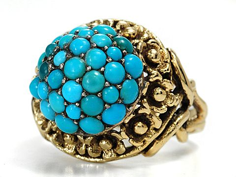 Vintage Turquoise Dome Ring