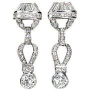 Wonderful Art Deco Diamond Earrings