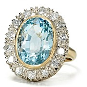 Sky & Clouds: Aquamarine Diamond Ring