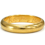 SOLD 17th C. Poesy Ring �Keepe Faith Till Death�