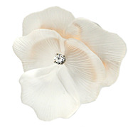 SALE Boucher Pansy Flower Rock Crystal Brooch