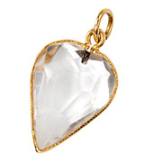 SALE 18th C. Rock Crystal Heart Pendant