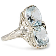 Light & Airy Art Deco Aquamarine Ring