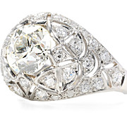 Domed Wonder:  2.10 ct. Diamond Bomb� Ring
