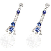 Sway: Diamond Sapphire Rock Crystal Earrings