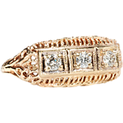 Triple Play: Diamond Filigree Ring