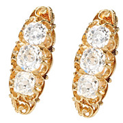Victorian River: Diamond Set Earrings