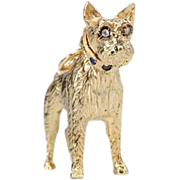 Faithful Friend - Gold Dog Pendant Charm