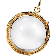 Antique Round Locket Pendant