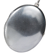 Edwardian Niello Silver Locket Pendant