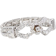 Unusual Flexible Diamond Platinum Ring